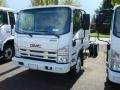 White - N Series Truck NPR 4500 Crew Cab Chassis Photo No. 1