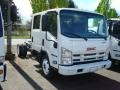 White - N Series Truck NPR 4500 Crew Cab Chassis Photo No. 2