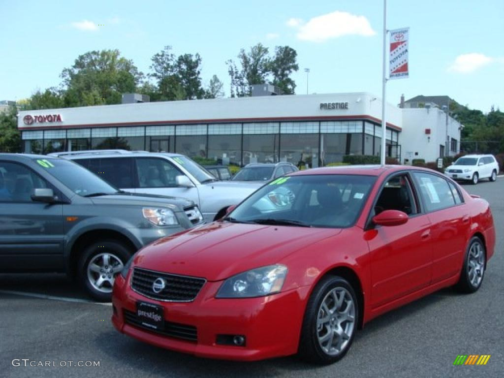 2006 code red metallic nissan altima 3 5 se r 34994559. Black Bedroom Furniture Sets. Home Design Ideas
