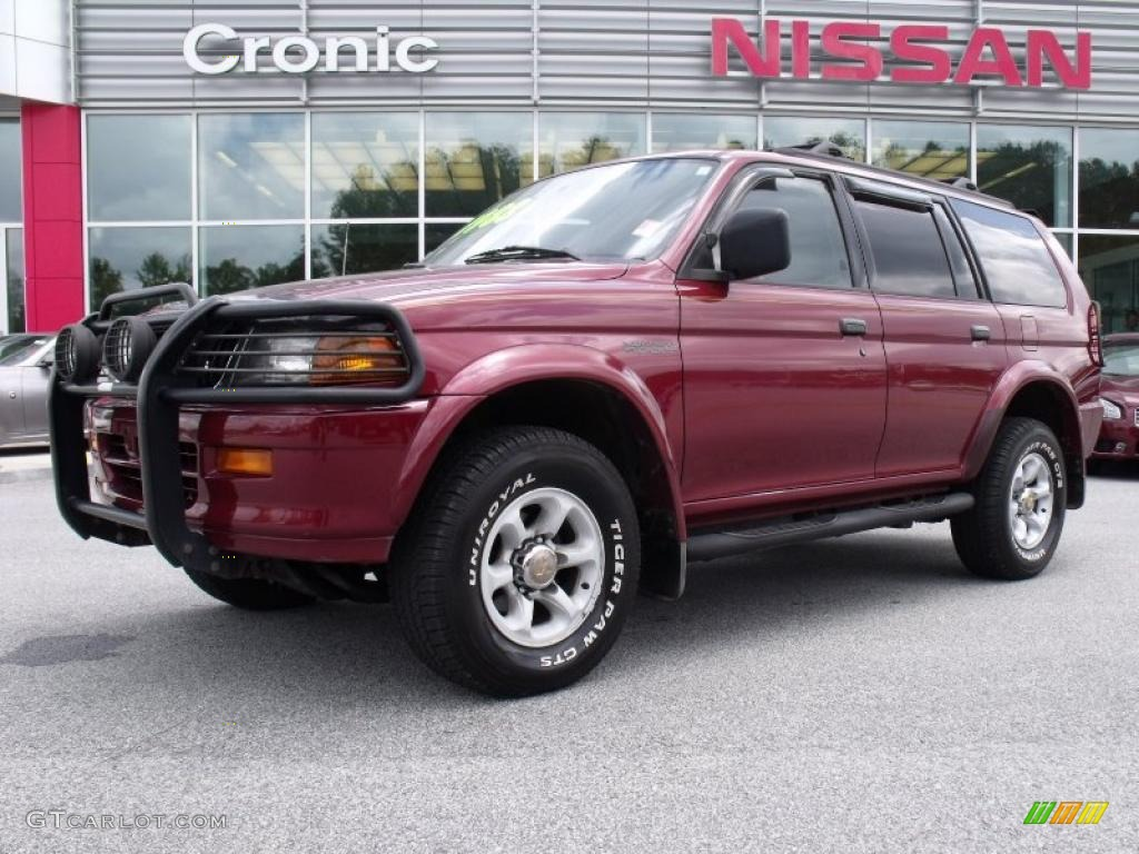 1999 Cambridge Red Pearl Mitsubishi Montero Sport Xls 4x4