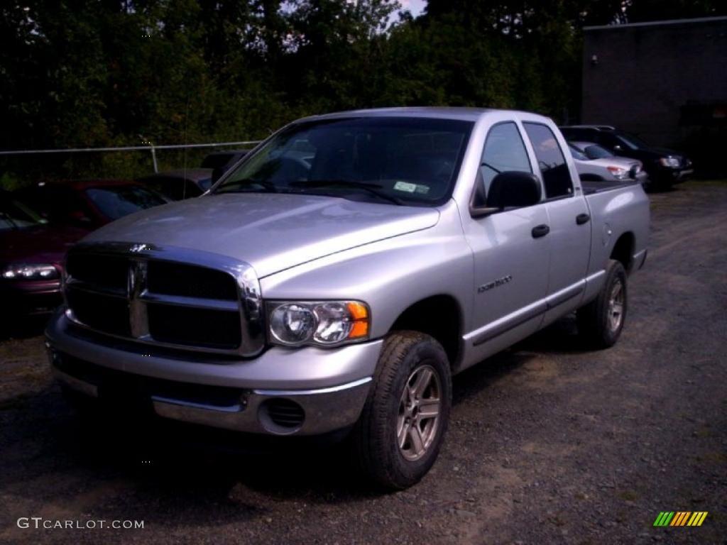 2002 Ram 1500 Sport Quad Cab 4x4 - Bright Silver Metallic / Dark Slate Gray photo #1
