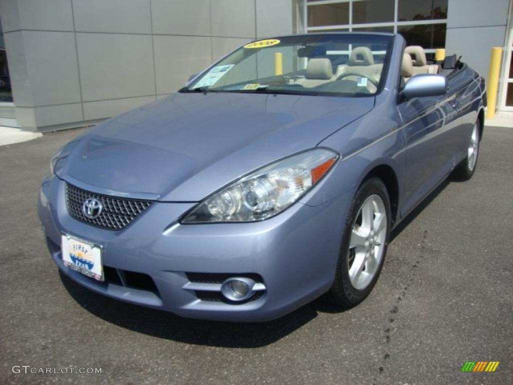 2008 cosmic blue metallic toyota solara sle v6 convertible 35054532 car color. Black Bedroom Furniture Sets. Home Design Ideas