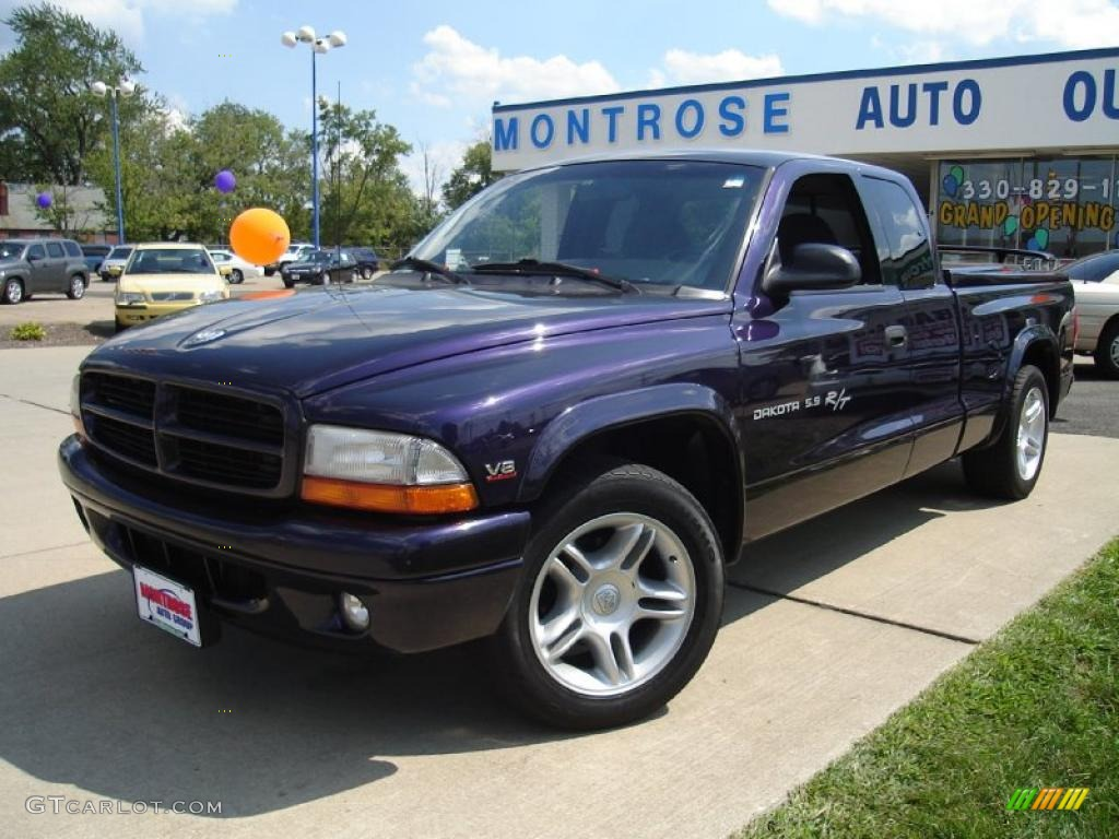 1999 deep amethyst pearl dodge dakota r t sport extended. Black Bedroom Furniture Sets. Home Design Ideas