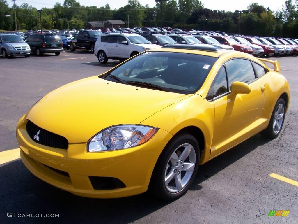 2009 Solar Satin Yellow Mitsubishi Eclipse GS Coupe #3483776 ...