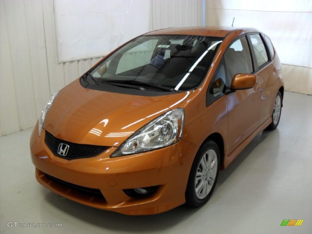 2010 orange revolution metallic honda fit sport 35126701 for Orange honda fit