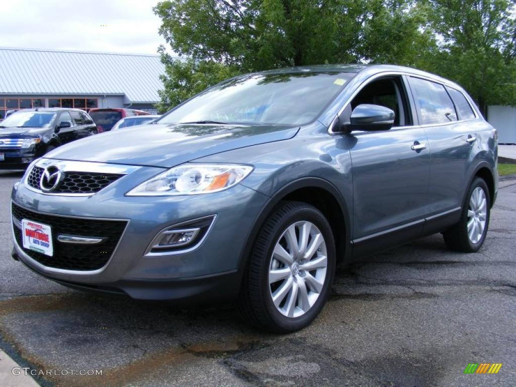 2010 dolphin gray mica mazda cx 9 grand touring awd. Black Bedroom Furniture Sets. Home Design Ideas