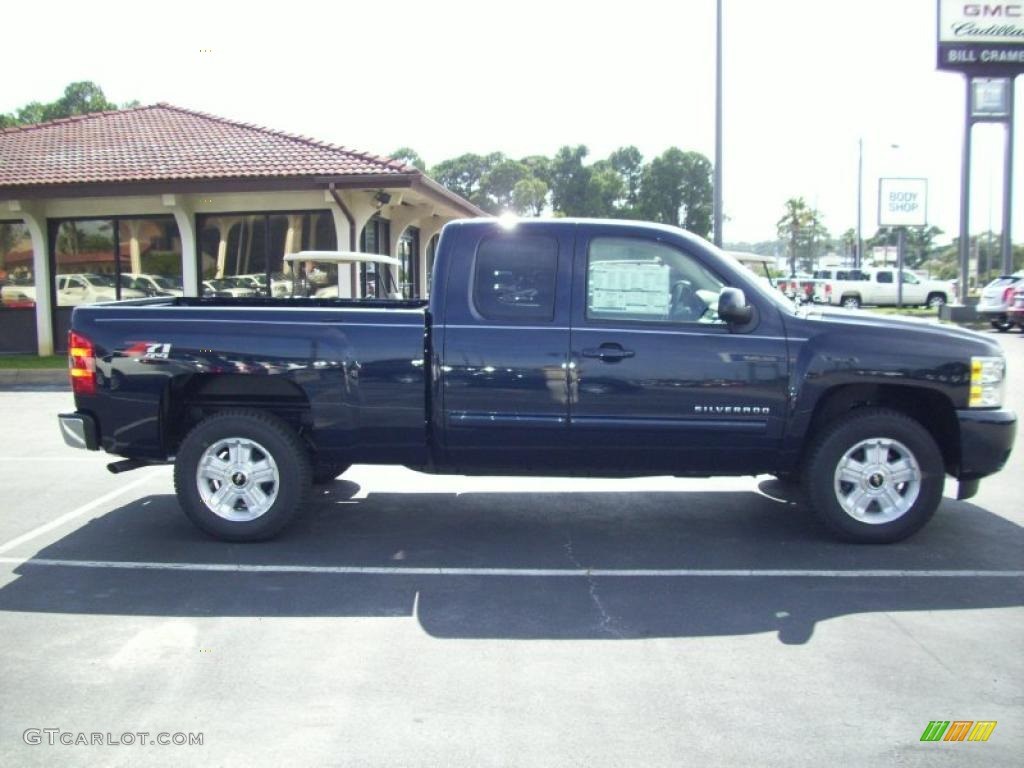 2011 Silverado 1500 LTZ Extended Cab 4x4 - Imperial Blue Metallic / Light Titanium/Dark Titanium photo #1