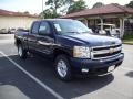 2011 Imperial Blue Metallic Chevrolet Silverado 1500 LTZ Extended Cab 4x4  photo #11