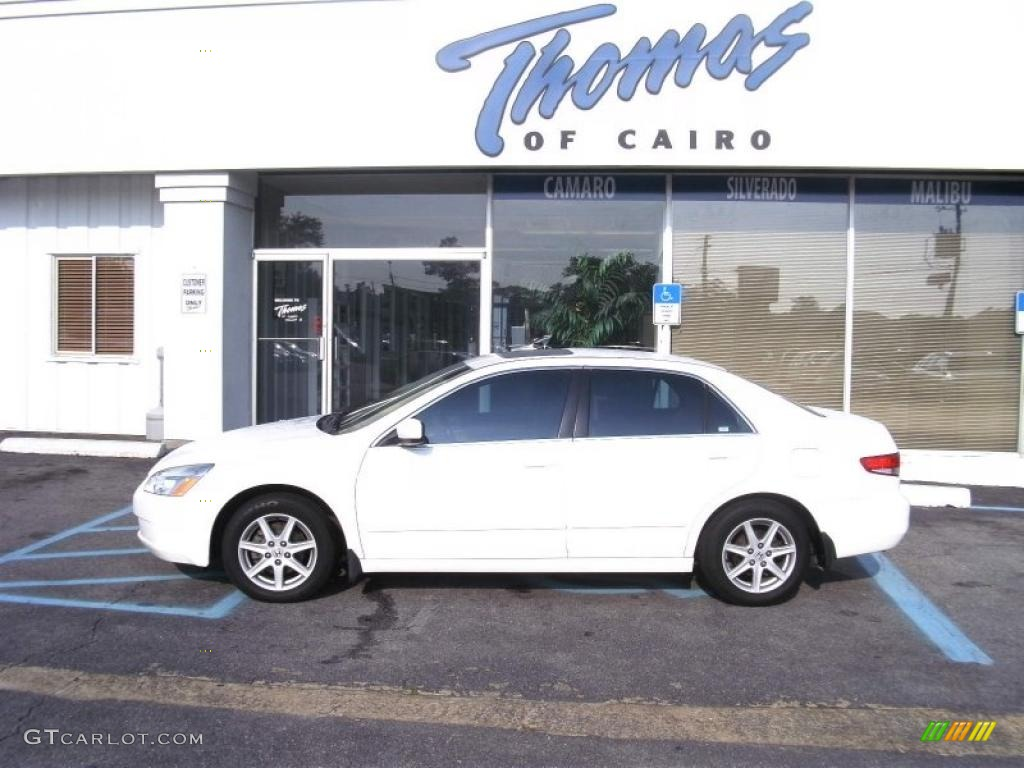 2003 Taffeta White Honda Accord Ex V6 Sedan 35222243