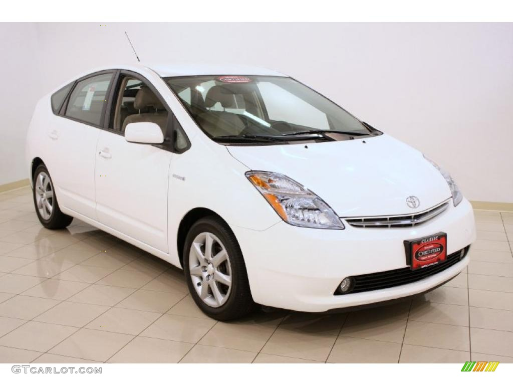2008 super white toyota prius hybrid touring 35283699. Black Bedroom Furniture Sets. Home Design Ideas