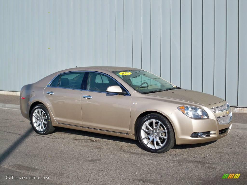 2008 sandstone metallic chevrolet malibu ltz sedan. Black Bedroom Furniture Sets. Home Design Ideas