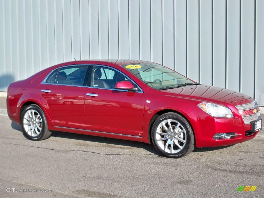 2008 red jewel tint coat chevrolet malibu ltz sedan 3518867 car color galleries. Black Bedroom Furniture Sets. Home Design Ideas