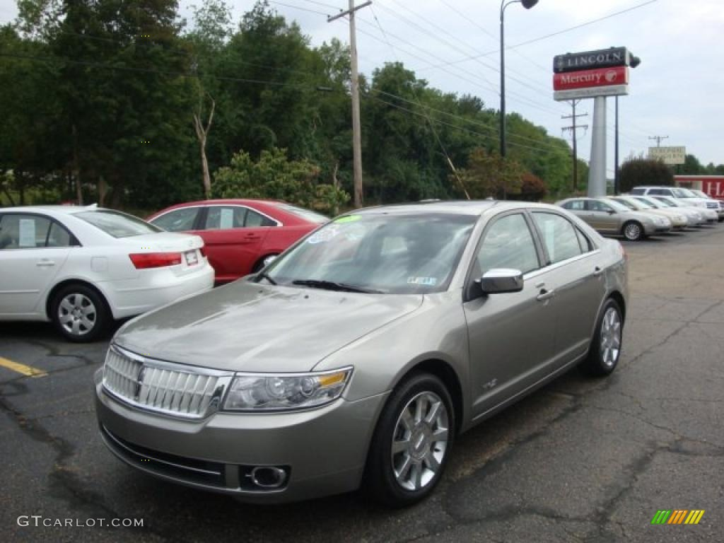 2008 MKZ Sedan - Vapor Silver Metallic / Dark Charcoal photo #1