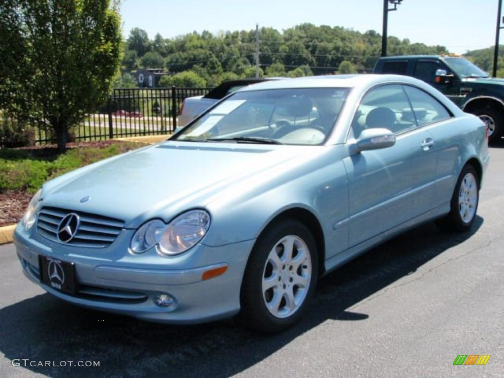 2004 ice blue metallic mercedes benz clk 320 coupe. Black Bedroom Furniture Sets. Home Design Ideas