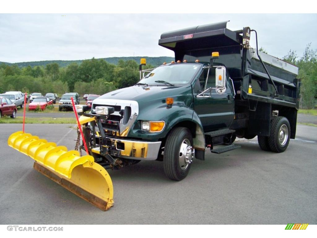 2007 F650 Super Duty XLT Regular Cab Dump Truck - Forest Green Metallic / Medium Dark Flint photo #1
