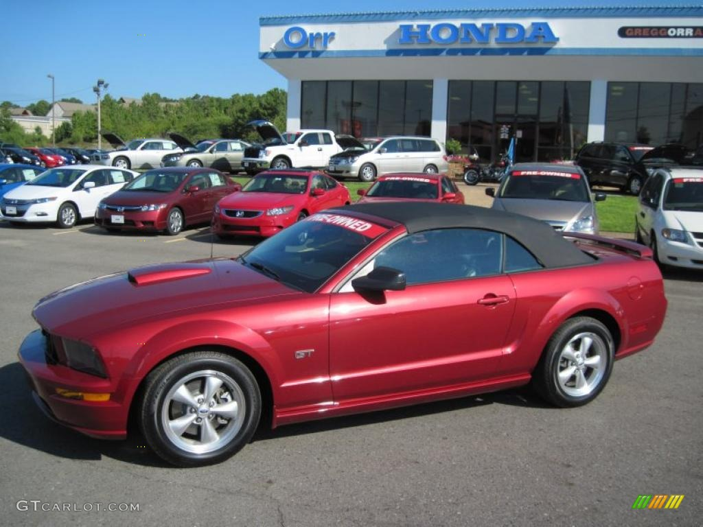 2007 Mustang GT Premium Convertible - Redfire Metallic / Dark Charcoal photo #1