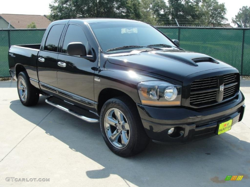 2006 Ram 1500 Night Runner Quad Cab - Black / Medium Slate Gray photo #1