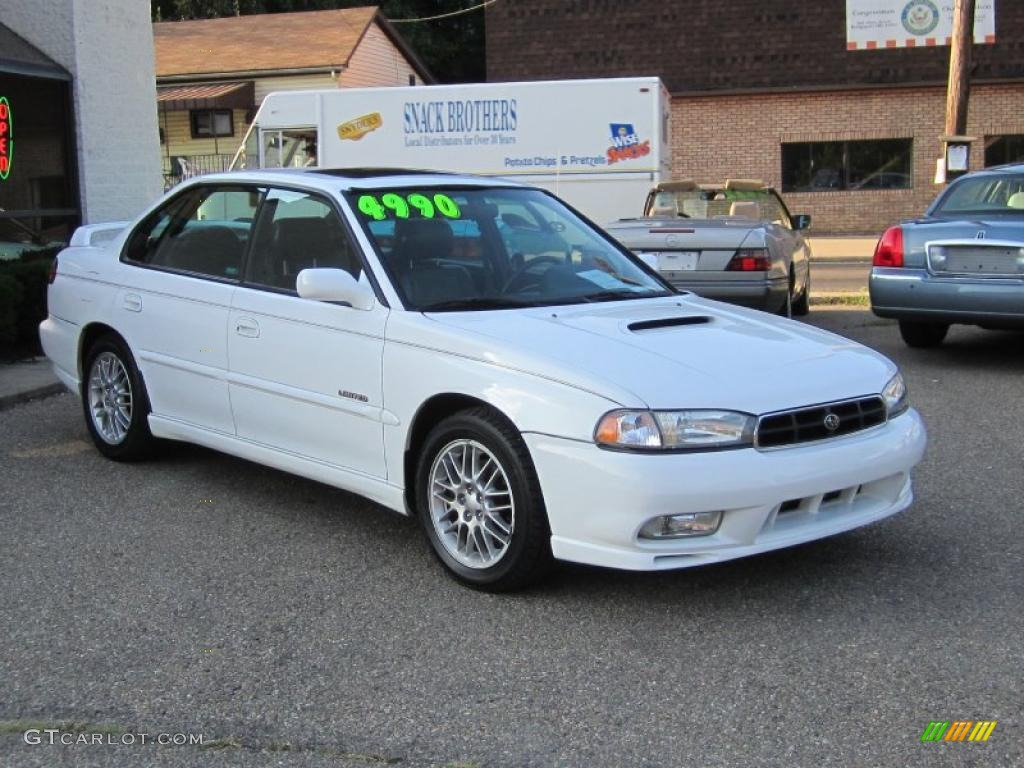 1998 glacier white subaru legacy gt limited sedan #35427760