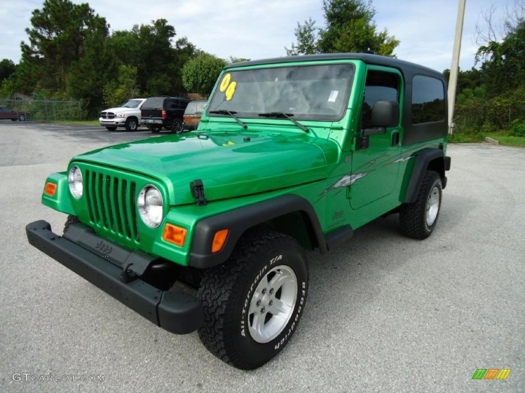 Electric Lime Green Pearl Jeep Wrangler