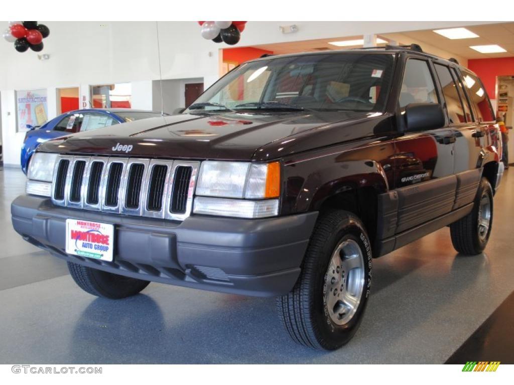 1996 Grand Cherokee Laredo 4x4 - Dark Rosewoood Pearlcoat / Agate photo #2
