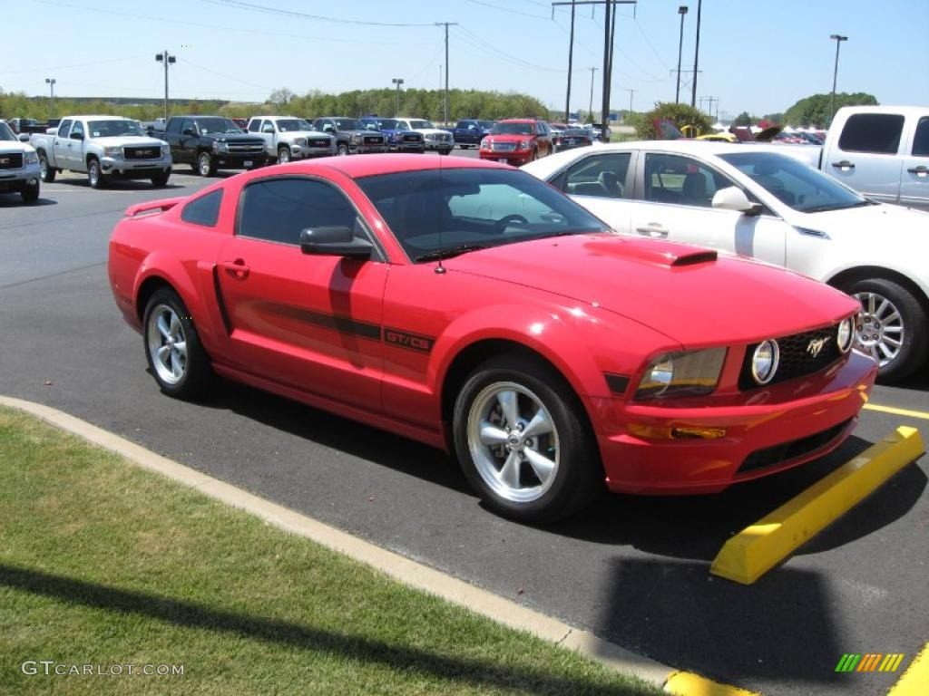 2007 Mustang GT/CS California Special Coupe - Torch Red / Black/Red photo #1