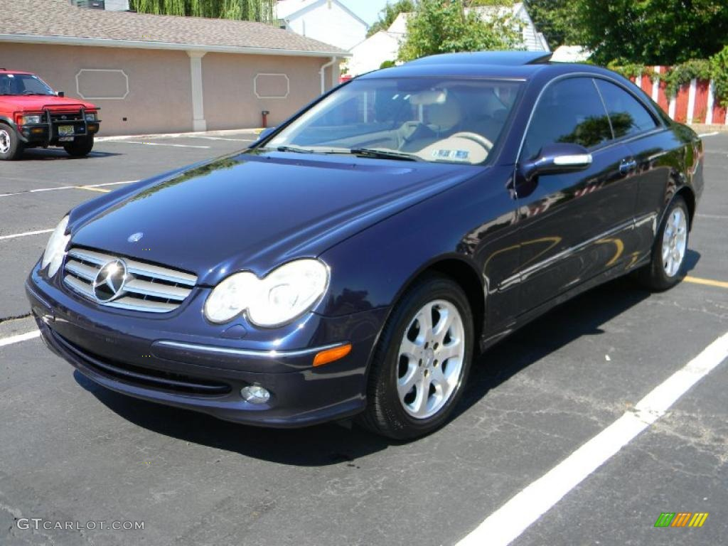 2003 capri blue metallic mercedes benz clk 320 coupe