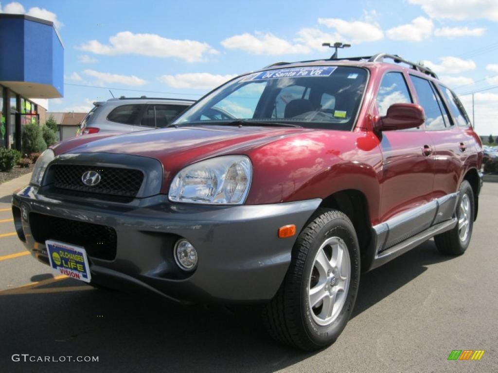 2004 merlot red hyundai santa fe gls 35483844 car color galleries. Black Bedroom Furniture Sets. Home Design Ideas