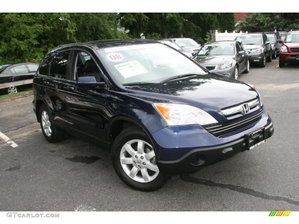 2008 CR-V LX - Royal Blue Pearl / Gray photo #3