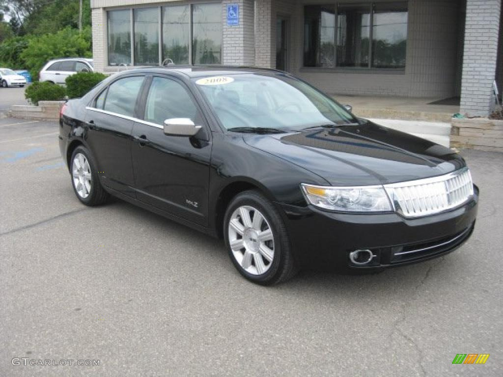 2008 MKZ Sedan - Black / Dark Charcoal photo #1