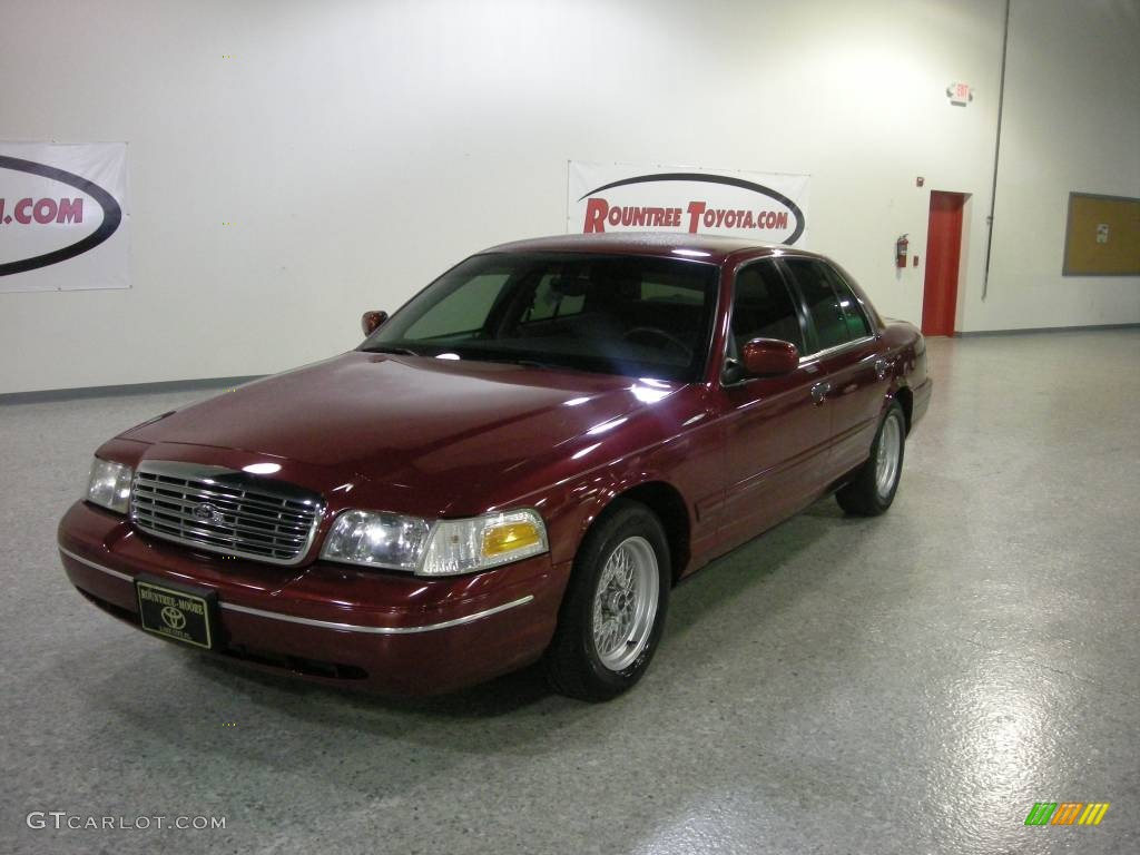 2001 crown victoria lx toreador red metallic light graphite photo 1