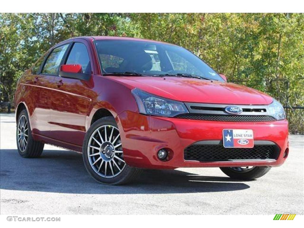 2010 sangria red metallic ford focus ses sedan 35551946. Black Bedroom Furniture Sets. Home Design Ideas