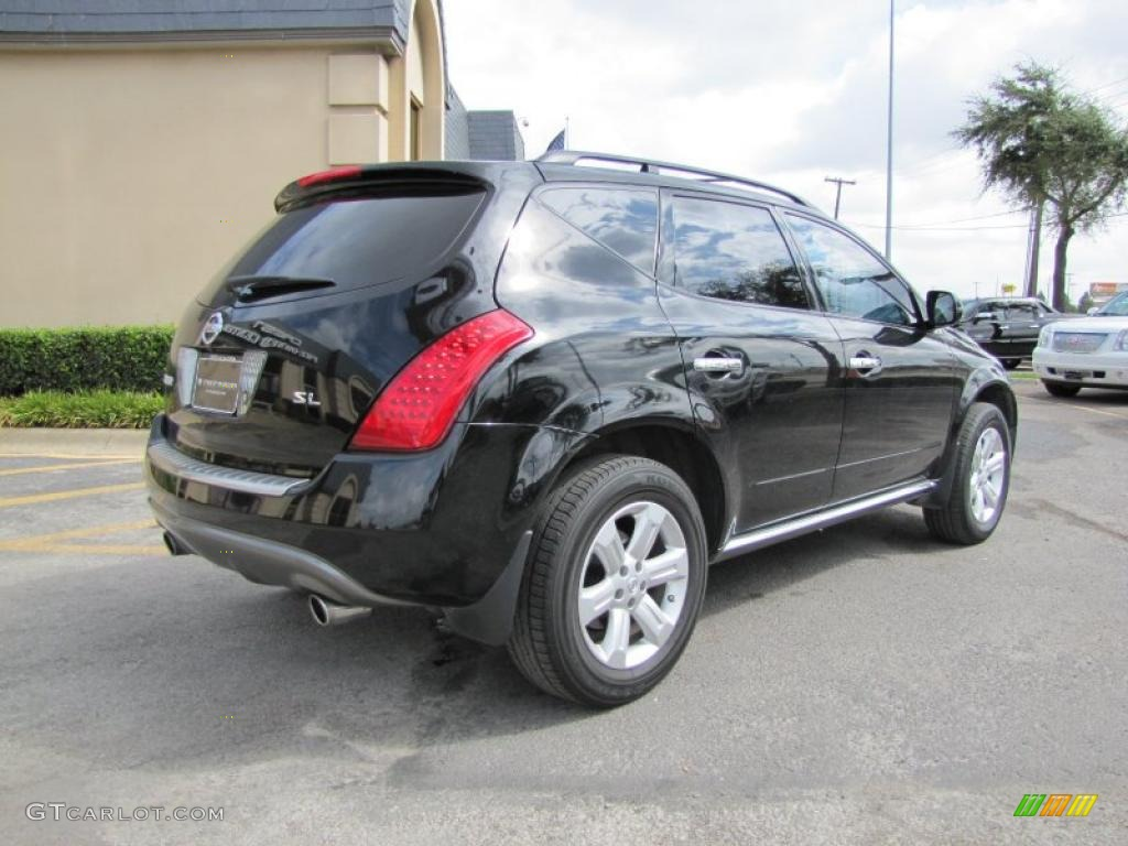 2006 Murano SL - Super Black / Charcoal photo #6
