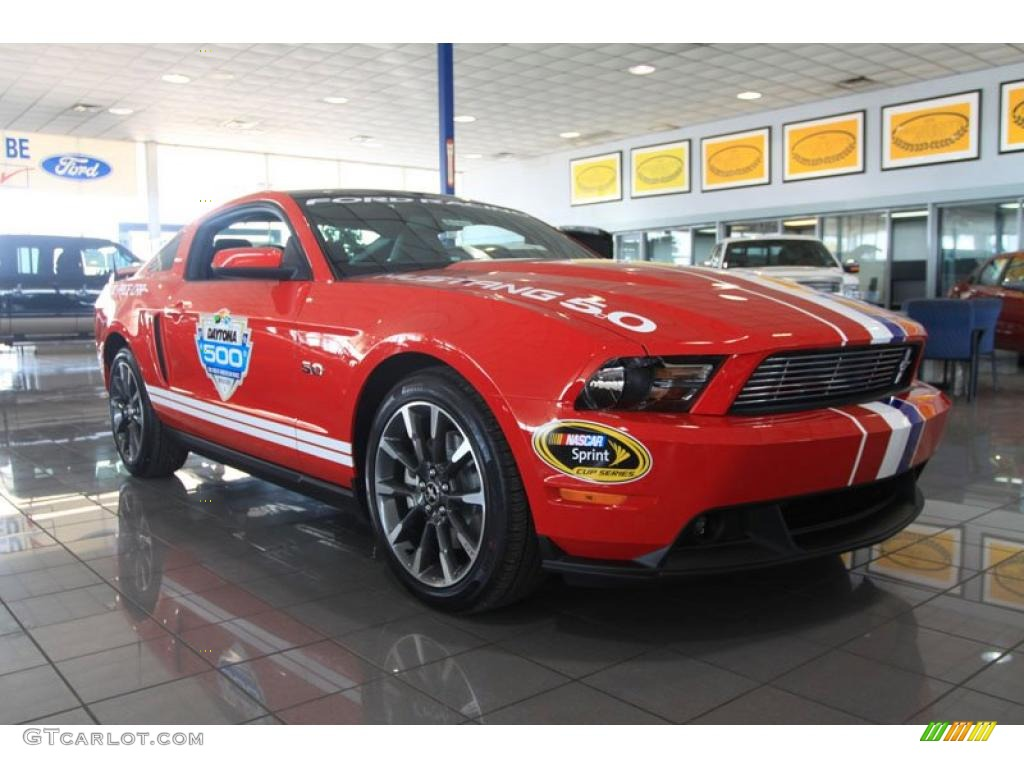 2011 Mustang GT Coupe Daytona 500 Official Pace Car - Race Red / Charcoal Black/Carbon photo #1