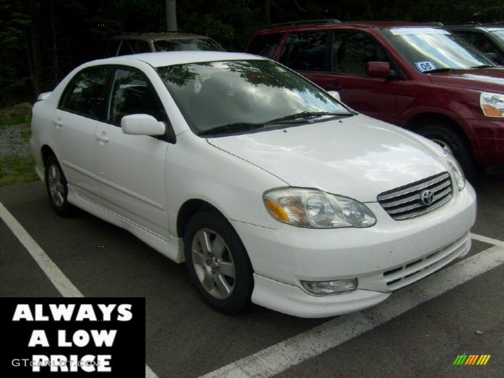 2004 super white toyota corolla s 35551255 car color galleries. Black Bedroom Furniture Sets. Home Design Ideas