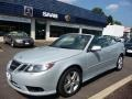 Snow Silver Metallic 2009 Saab 9-3 2.0T Convertible