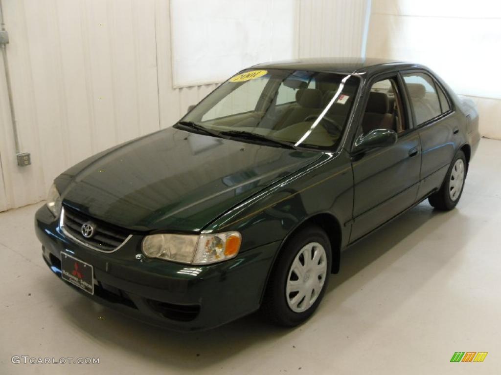 2001 Woodland Green Pearl Toyota Corolla Le 35552761