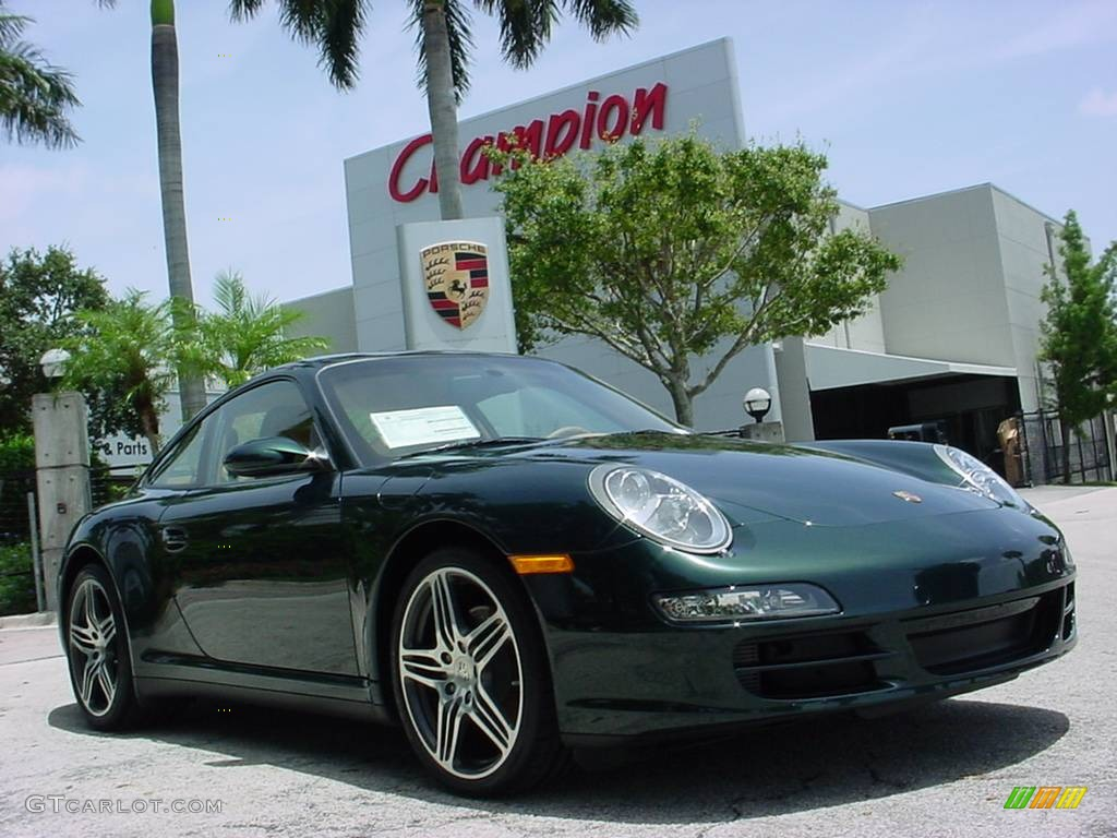 ed60ac809f444f 2008 Forest Green Metallic Porsche 911 Carrera 4 Coupe  352078 ...