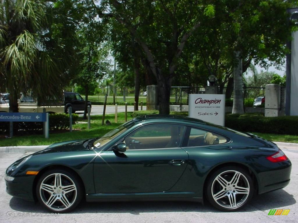c84de5c2ffe2c3 2008 Forest Green Metallic Porsche 911 Carrera 4 Coupe  352078 Photo ...