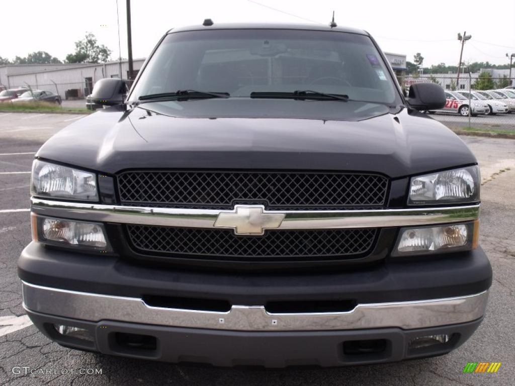 2005 Silverado 1500 LT Extended Cab - Black / Dark Charcoal photo #2