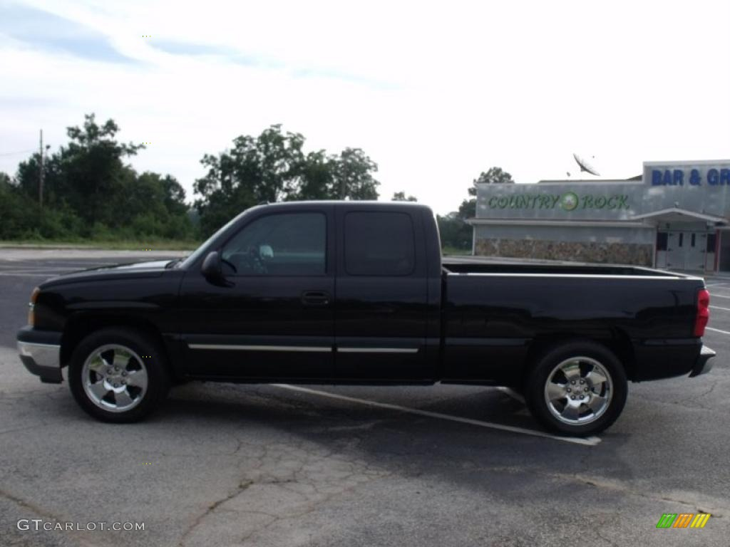 2005 Silverado 1500 LT Extended Cab - Black / Dark Charcoal photo #4