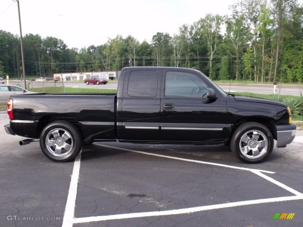 2005 Silverado 1500 LT Extended Cab - Black / Dark Charcoal photo #8