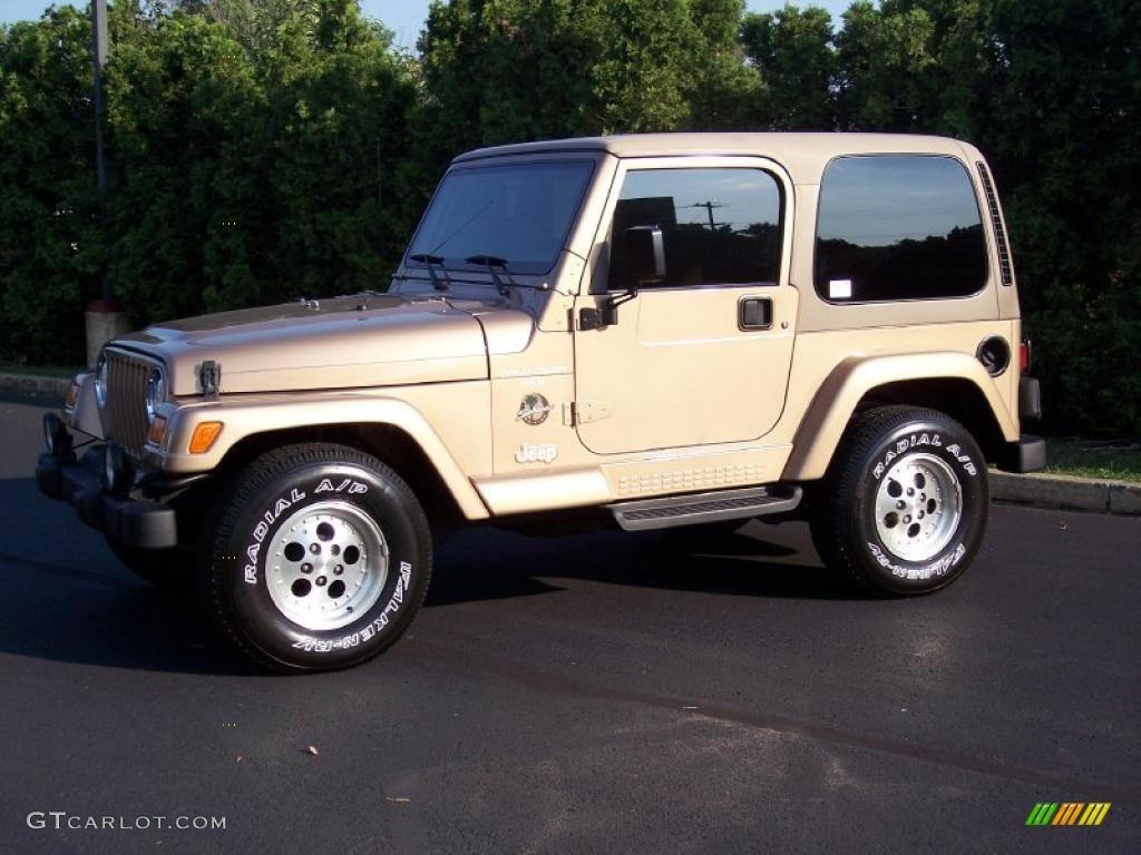1999 Desert Sand Pearlcoat Jeep Wrangler Sahara 4x4 #35552343 ...