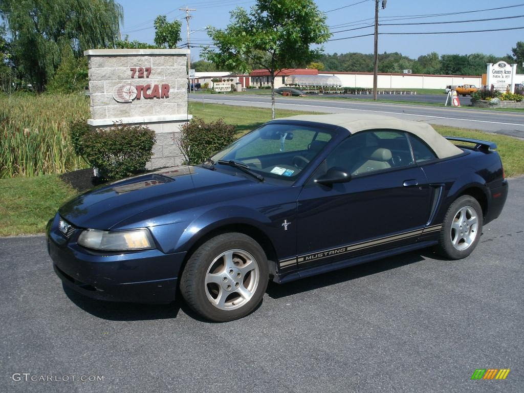 2001 true blue metallic ford mustang v6 convertible 35552393 car color galleries. Black Bedroom Furniture Sets. Home Design Ideas