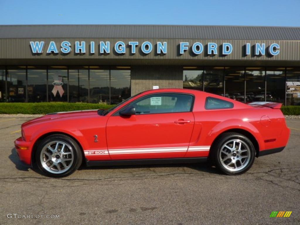 2007 Mustang Shelby GT500 Coupe - Torch Red / Black Leather photo #1