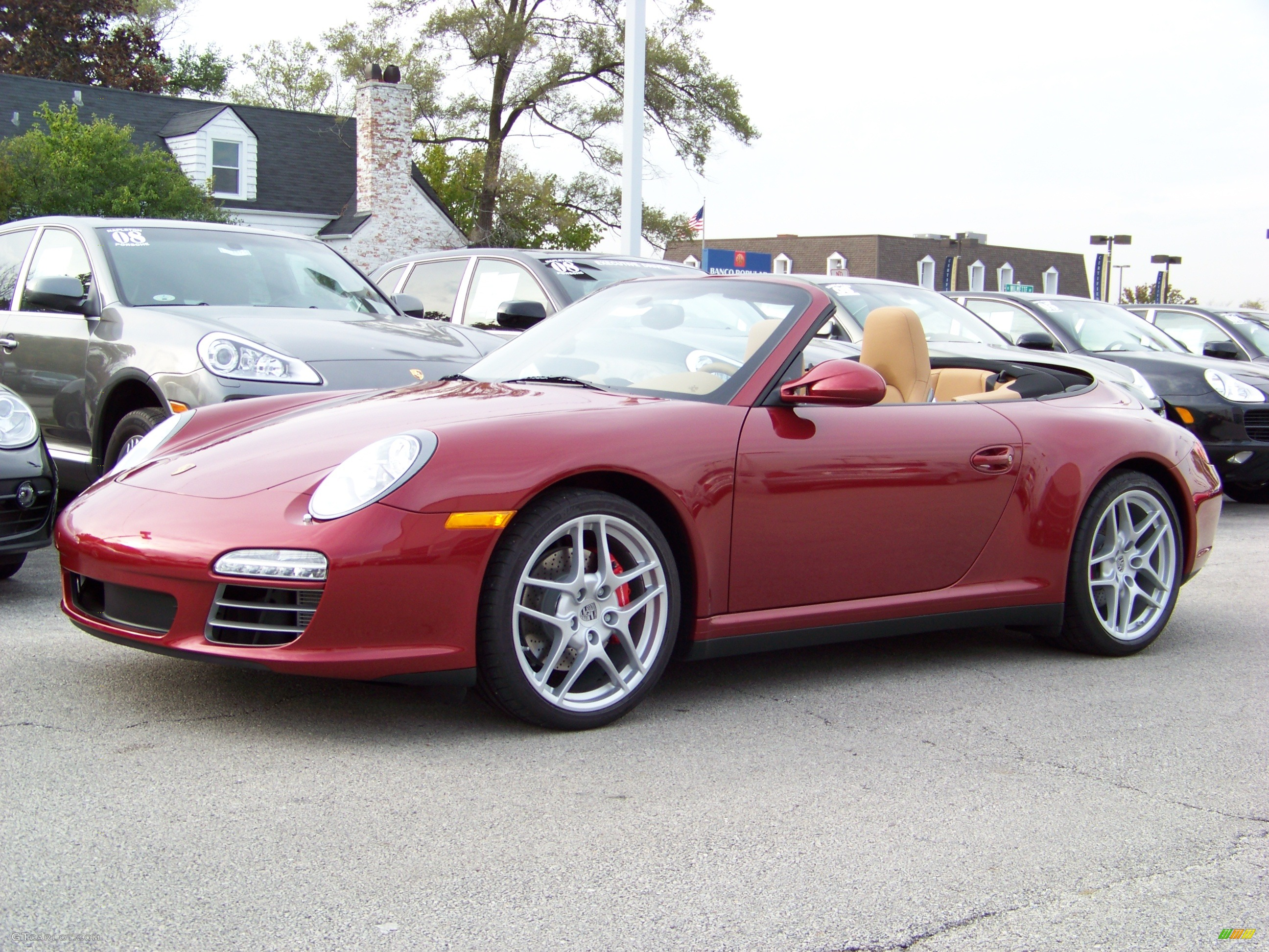 2009 Ruby Red Metallic Porsche 911 Carrera 4s Cabriolet