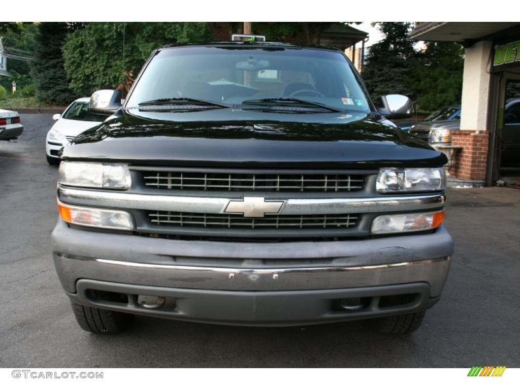 2002 Silverado 1500 LS Extended Cab 4x4 - Onyx Black / Graphite Gray photo #2