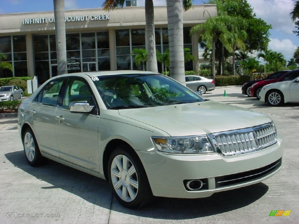 2008 MKZ Sedan - Light Sage Metallic / Light Stone photo #1