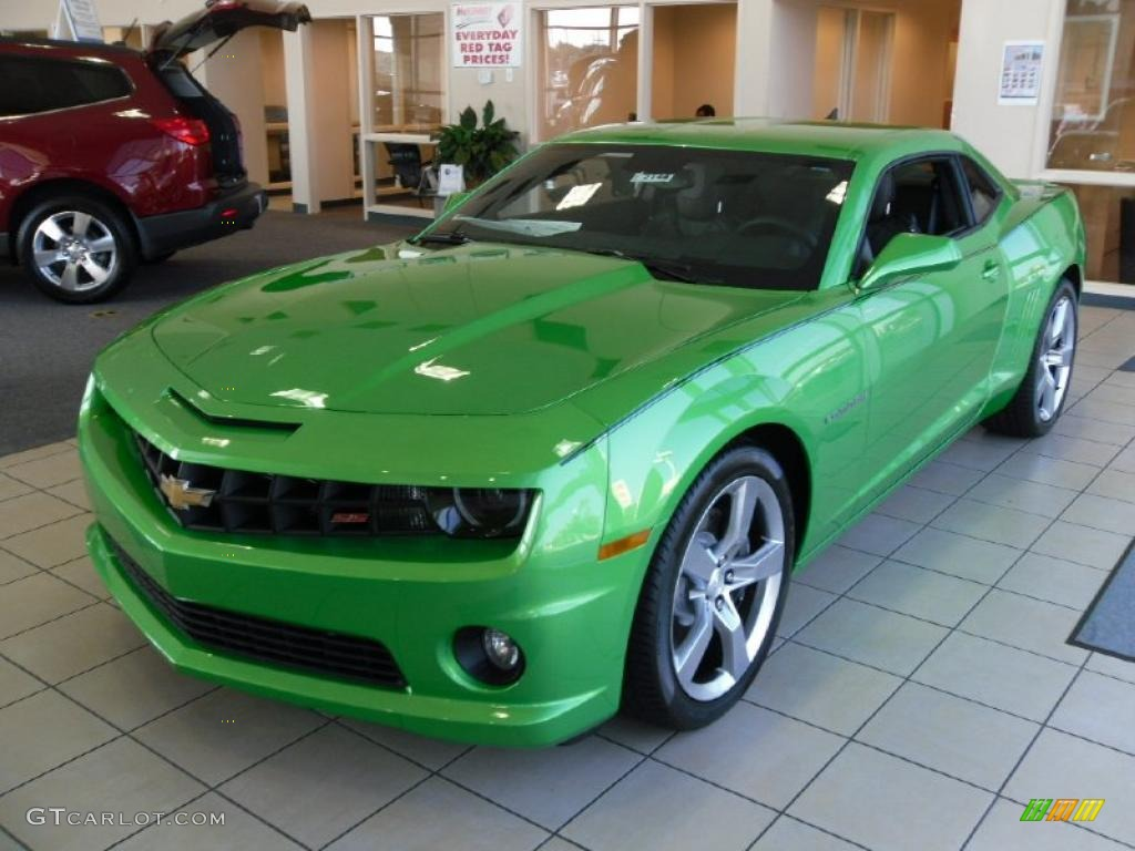 2011 Synergy Green Metallic Chevrolet Camaro SSRS Coupe 35719859