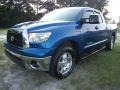 2008 Blue Streak Metallic Toyota Tundra SR5 TRD Double Cab  photo #2