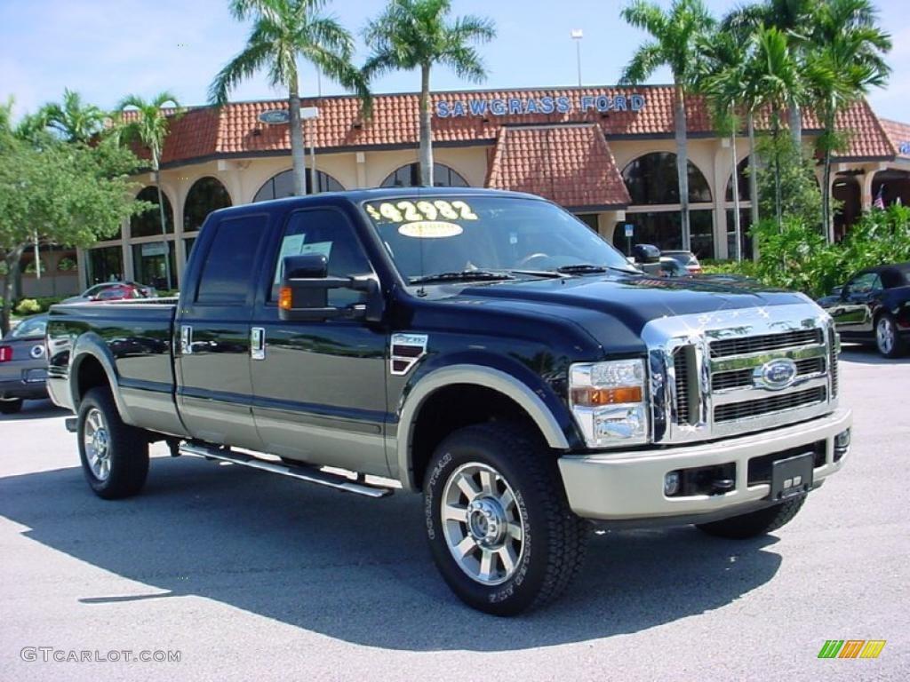 2008 black ford f350 super duty king ranch crew cab 4x4 35788616 car color. Black Bedroom Furniture Sets. Home Design Ideas